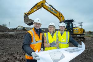 Staff at new build site